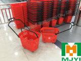 Plastikkorb-Lebensmittelgeschäft-Einkaufen Backets