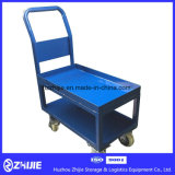 Blaue doppelte Schicht-Standardplattform-Laufkatze