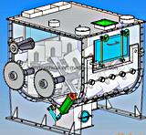 Horizontaler Paddel-Puder-Mischer, Nicht-Schwerkraft Mischmaschine-Maschine