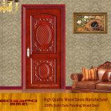 インドの標準的な切り分ける木製の寝室のドア(GSP2-067)