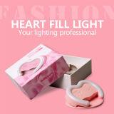 Corazón ligero de destello de la dimensión de una variable LED Selfie Rechangeable del corazón con el espejo