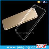 贅沢のiPhone 7のための超薄く細く透明なケースのシリコーンの紙表紙