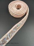 Strass 수정같은 리본 (TS-035)에 역행 접착제 모조 다이아몬드 철판