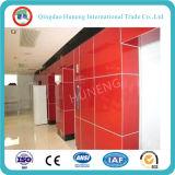 vidrio pintado rojo/hornada de 3-6m m de cristal para los muebles y la decoración