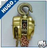 Élévateur à chaînes de main anti-déflagrante (HBSQ) avec les chaînes de levage d'en cuivre