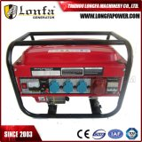 gerador manual 3-Phase da gasolina do começo 5kVA/5kw com disjuntor Protecter