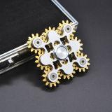 Antianxiety réduisent la pression dévastent le métal de personne remuante de jouet de dessus de fileur de main du doigt EDC de roue de liaison