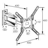 Full-Motion держатель приспособленный для 21-55 '' плазма/LCD TV