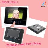 """7 """"TFT-LCD sans fil enregistrable porte vidéo Sonnette 4G carte SD"""