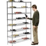 Flat Red Wine Steel Wire Store Display Rack (WR7535150A5C)