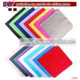 Cadeau de couleur chamois estampé par Bandana d'affaires de coton de qualité (C1101)