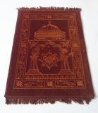 高品質の赤いカラーイスラム教のRaschelの祈り敷物のカーペット