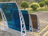 Крышка укрытия патио сени поликарбоната самомоднейшей конструкции водоустойчивая пластичная