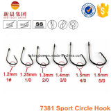 Black Nickle High Carbon Steel 7381 Sport Circle Hook