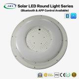 Lampe ronde solaire LED 25W avec une application Bluetooth