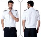 Chemise personnalisée d'uniforme de garde de sécurité de T/C
