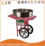 Creatore elettrico della caramella di cotone di colore rosa della macchina del filo di seta della caramella con il carrello