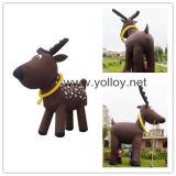 Revelação inflável de réplicas de renas para decoração de natal