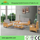 ヨーロッパのフランスの王冠の背部固体木の革ベッド/ベッド部屋の家具はSr033をセットする