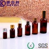 rodillo de cristal ambarino 10ml en las botellas con la bola de rodillo del acero inoxidable para el petróleo esencial R