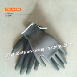 Luvas de trabalho do plutônio do poliéster K-56/nylon