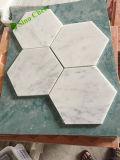 Mattonelle di mosaici di marmo bianche Premium di Carrara