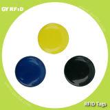 Étiquette de disque de PVC LF Em4100 Em4102 Em4200 d'IDENTIFICATION RF, étiquette ultra-légère d'autocollant de pièce de monnaie de disque du Topaz Ntag203 d'à haute fréquence Nfc S50 S70 d'IDENTIFICATION RF