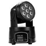 7X12W 4in1 LED mini bewegliche Hauptpunkt-Licht DJ-Disco-Verein-Partei-Hochzeits-Stadiums-Effekt-Beleuchtung