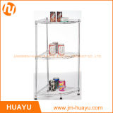Basics domestico Grey 3-Tier Wire Corner Shelf