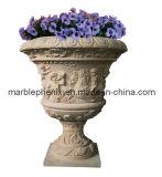 POT di fiore di pietra intagliato del giardino