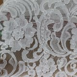 Voile Lace Embroidery Cotton Cord Fabric per Garments