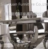 La première salle à manger de marbre moderne d'acier inoxydable met le Tableau dinant de Funriture de salle de séjour (SJ806)