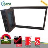 Plastica laminata disegno di vetro piegante dei portelli e di Windows di UPVC