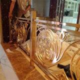 رفاهيّة نوع ذهب لون 304 [ستينلسّ ستيل] زخرفة درجات درابزون لأنّ داخليّ يستعمل