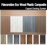 Plancher en plastique composé texturisé en bois WPC bon en bois extérieur