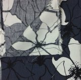 Tela impressa de mistura de linho/viscosa do vestuário da tela da HOME de matéria têxtil