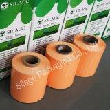 A cor alaranjada, 250mm*25mic*1800m, UE introduz no mercado, cultiva a película da ensilagem da proteção da pastagem