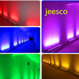 12PCS*6W Waterproof a luz da arruela da parede do diodo emissor de luz RGB 3in1