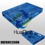 """1200X800 (48 """" X32 """") de Maagdelijke HDPE Materiële Plastic Pallet van het Type van Dek van het Net Niet-omkeerbare Euro"""