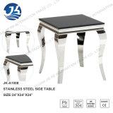 ルイーズの現代黒い大理石か120*70*41cmステンレス鋼フランス様式の足を搭載する黒いガラスコーヒーテーブルを和らげること