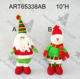 Hogar Decoration-3asst. de la Navidad de Santa y del muñeco de nieve