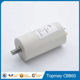 металлизированный 250V пленочный конденсатор полипропилена для AC (CBB60H) с проводом