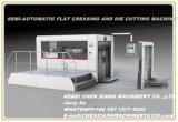 Semi автоматическая квартира Cx-1300 Creasing и умирает автомат для резки