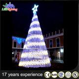 Aantrekkelijke Openlucht LEIDENE van de Decoratie van Kerstmis ReuzeKerstboom