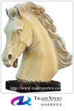Естественная мраморный каменная животная лошадь высекая статую/скульптуру с подгоняно