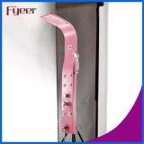 El panel rosado de la ducha del acero inoxidable de la precipitación de Fyeer con la visualización de la temperatura