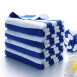 安い卸し売り純粋なトルコの綿の縞浜のプールタオル