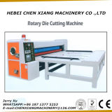 Máquina cortando giratória Chain do papel ondulado da alimentação