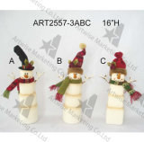 Контейнер обслуживания снеговика Санта рождества, домашнее украшение, 3asst