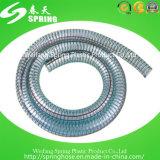 Boyau renforcé clair en plastique de débit industriel de l'eau de fil d'acier de PVC